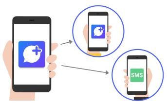 メッセージアプリ「+メッセージ」の使い方
